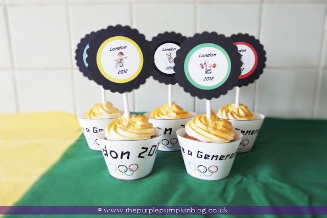 London 2012 #Olympics #Cupcakes at The Purple Pumpkin Blog