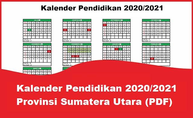 Kalender Pendidikan 2020/2021 Sumatera Utara