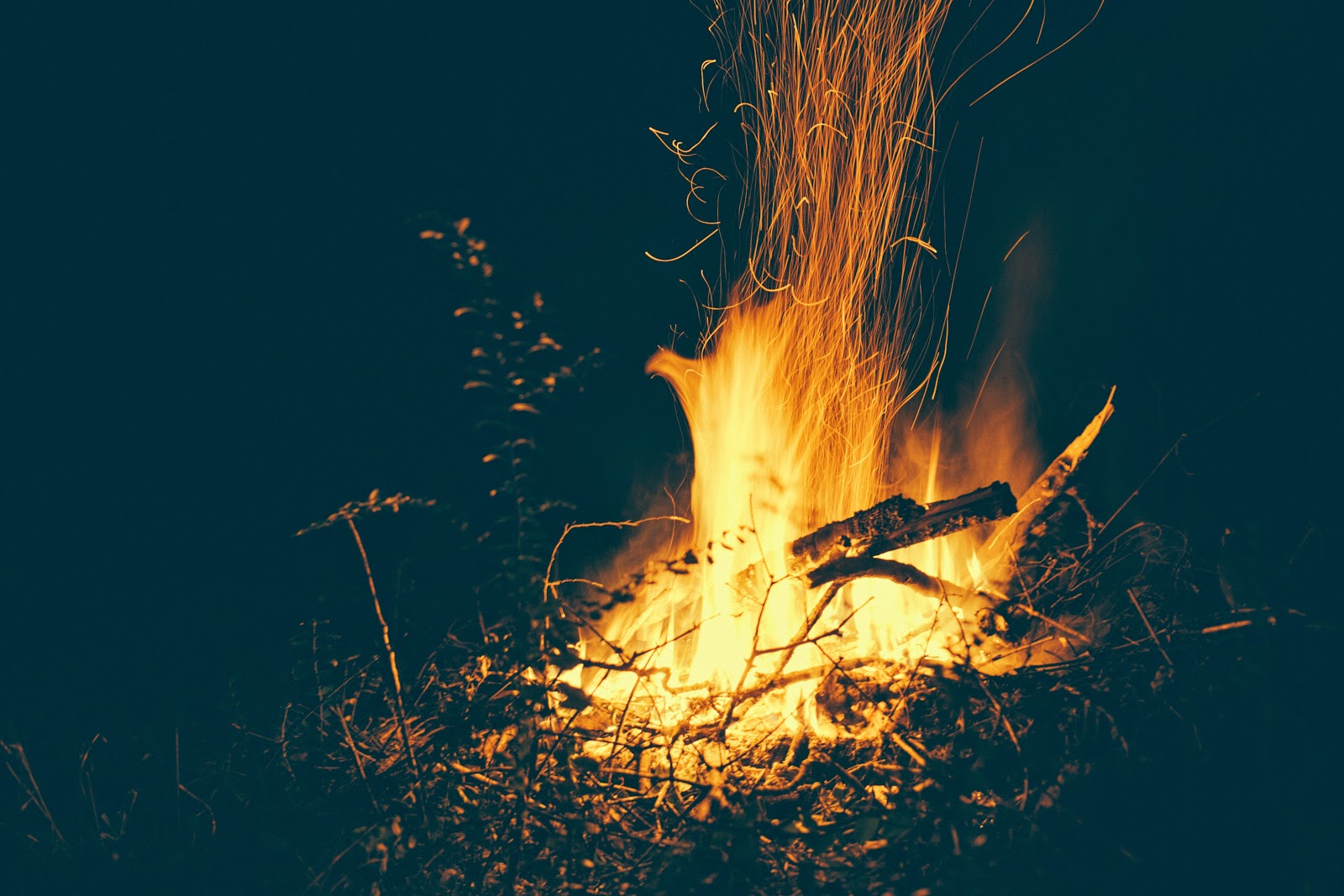 Meán Fómhair (Autumn Equinox) Fire by Gloria Gypsy