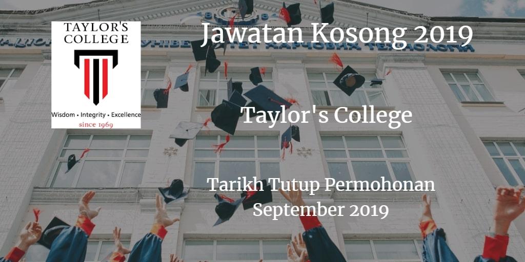 Jawaan Kosong Taylor's College September 2019