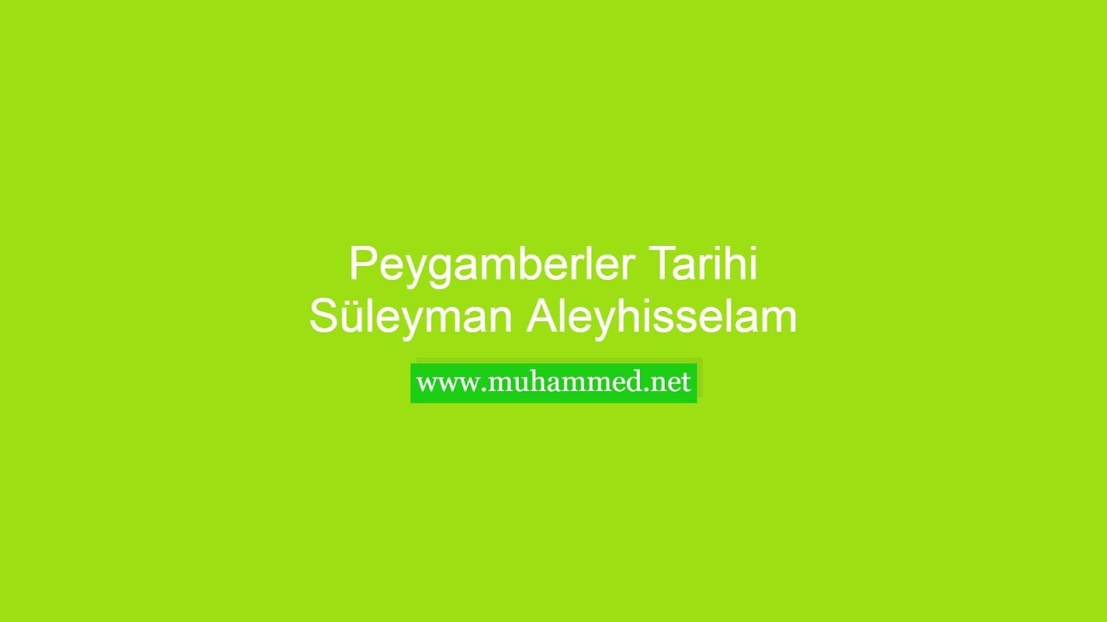 Hz. Süleyman (a.s.)