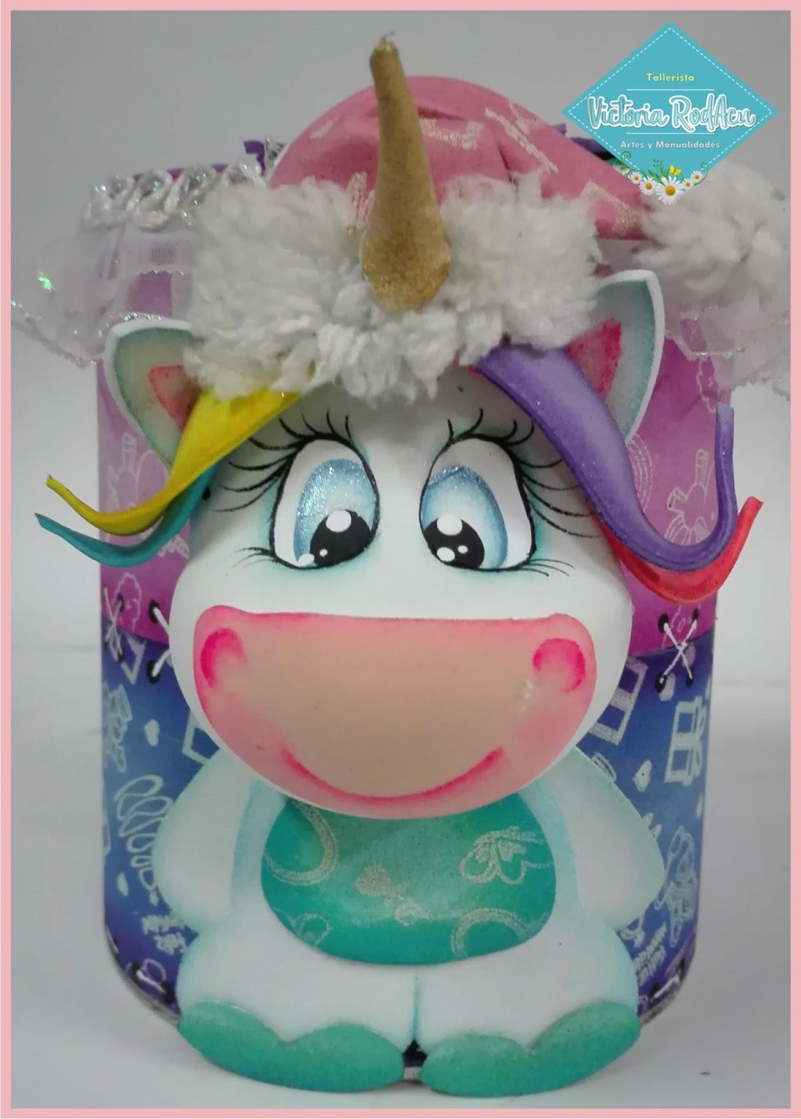 Diy tarro navide o unicornio reciclaje for Sobres de goma eva