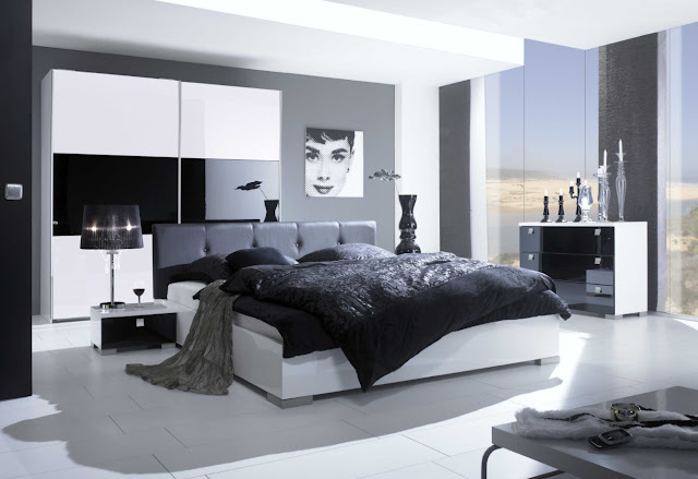 modern bedroom design ideas black and white