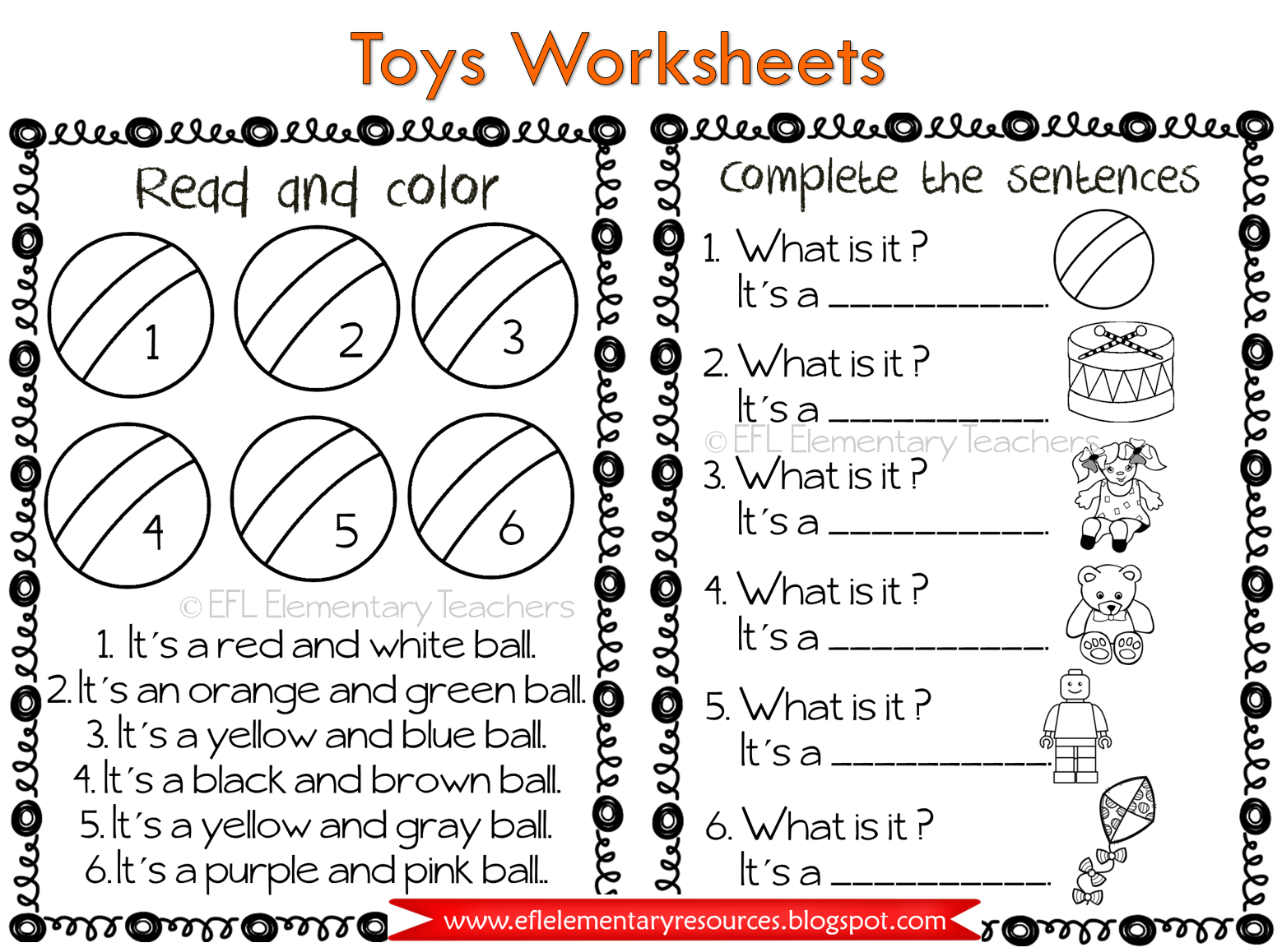 Efl Elementary Teachers Toys Thematic Unit For Elementary Ell