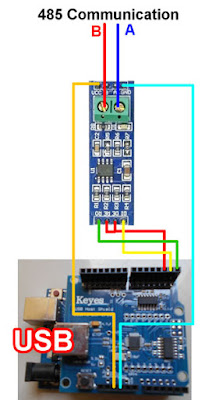 Arduino USB Host and 485 Converter Module