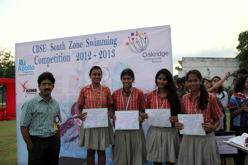 cbse south zone swimming meet 2013