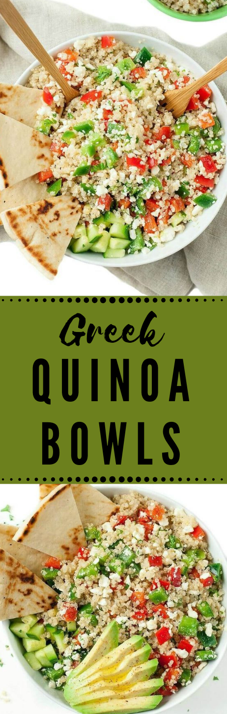 GREEK QUINOA BOWLS #bowls #lowcarb #whole30 #healthydiet #keto
