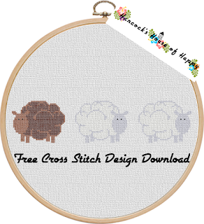 free sheep cross stitch sampler