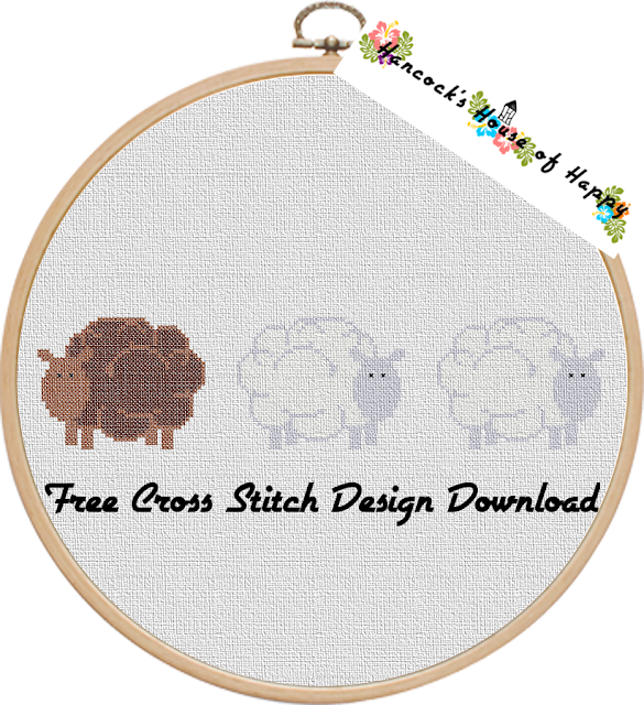 Everyone is Ewe-nique! A Sweet and Simple Woolly Sheep Cross Stitch Pattern Free to Download