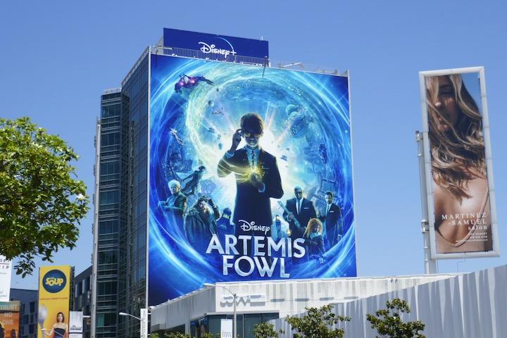 Disney Artemis Fowl movie billboard