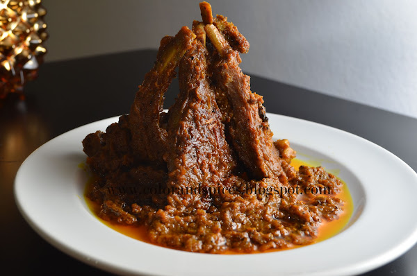 Indian spiced ribs dry curry, mutton chaNp
