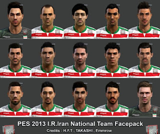 Facepack Iran National Team Pes 2013