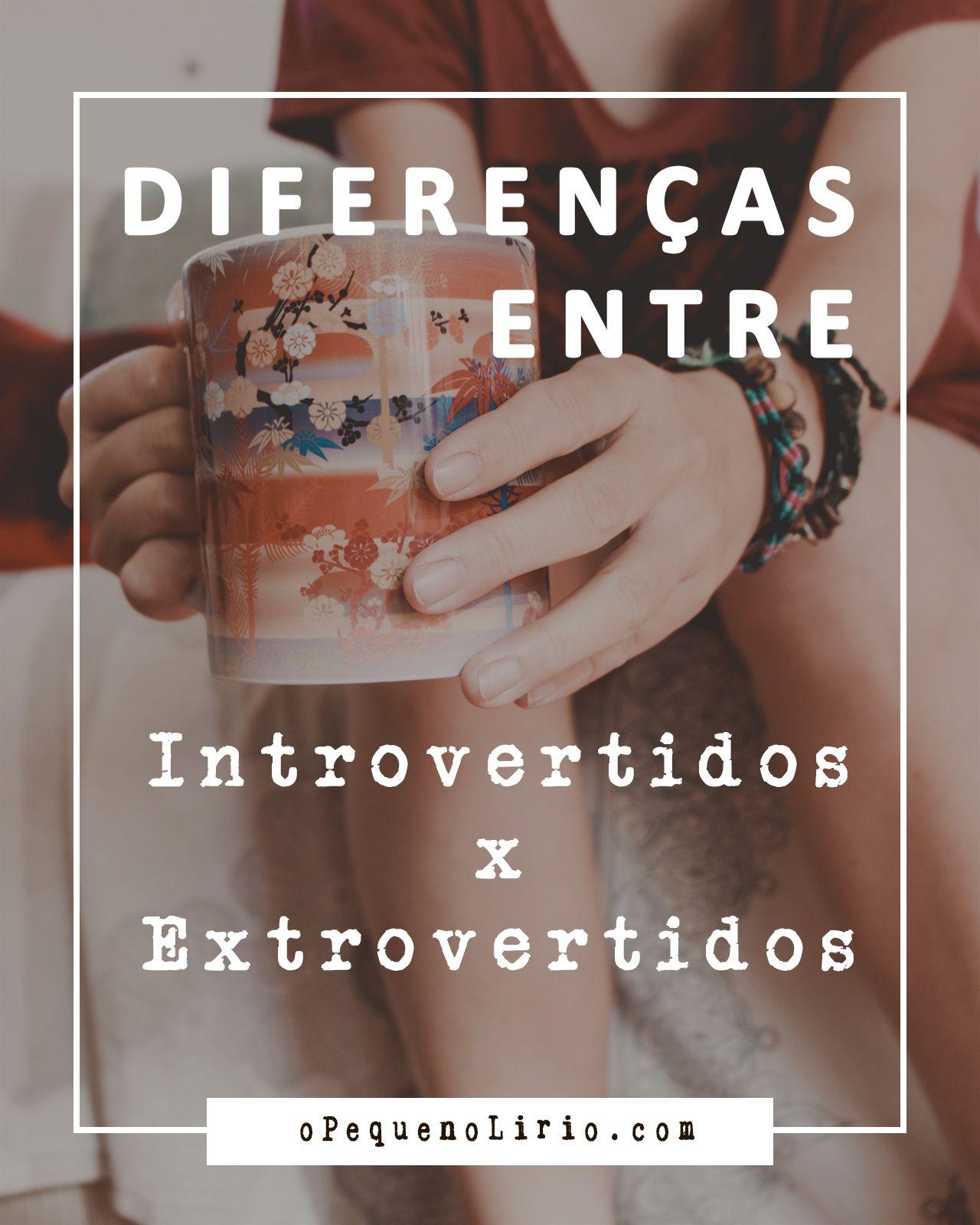 diferenças entre Introvertidos x Extrovertidos
