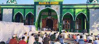 Masjid Al Hidayah Kodim 0820 Terapkan Protokoler Kesehatan Ketat Saat Sholat Idul Fitri 1442H