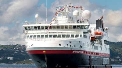 Hurtigruten's MS Spitsbergen was Christened in Svolvaer