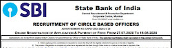 State Bank of India appoints Circle Based Officer 2020