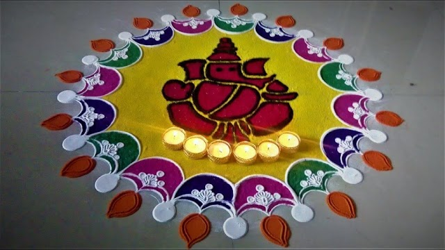 FREEHAND RANGOLI | EASY AND SIMPLE RANGOLI | UPTODATE DAILY