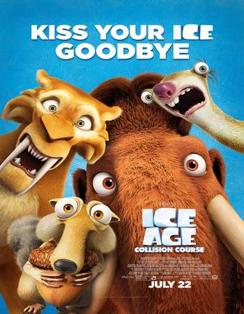 Poster Of Ice Age Collision Course 2016 English  300MB  720p  HEVC Free Download Watch Online 300Mb.cc
