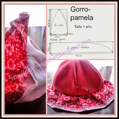 http://www.patronycostura.com/2014/06/tema-44-conjunto-vestido-gorro-pamela-y.html