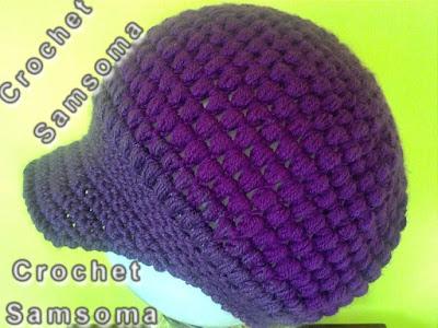 كروشيه طاقية بكاب. طريقة كروشيه طاقية بكاب. طريقه عمل ايس كاب كروشيه . كروشيه طاقية. كروشيه قبعة .  Crochet Adult Cap Hat. How to Crochet A Hat. Crochet Newsboy Puff Stitch Hat. كاب كروشيه.  كروشيه طاقية نسائية . طريقة كروشبه كاب لاي طاقية  Crochet hat.   كروشيه طاقية نسائية بغرزة الباف.  - Crochet Puff Stitch Hat for woman. . كروشيه . تعليم الكروشيه للمبتدئين بالفيديو. تعلم الكروشيه. samsoma . samsouma  . دروس لتعليم الكروشيه للمبتدئات.  crochet samsoma . .crochet
