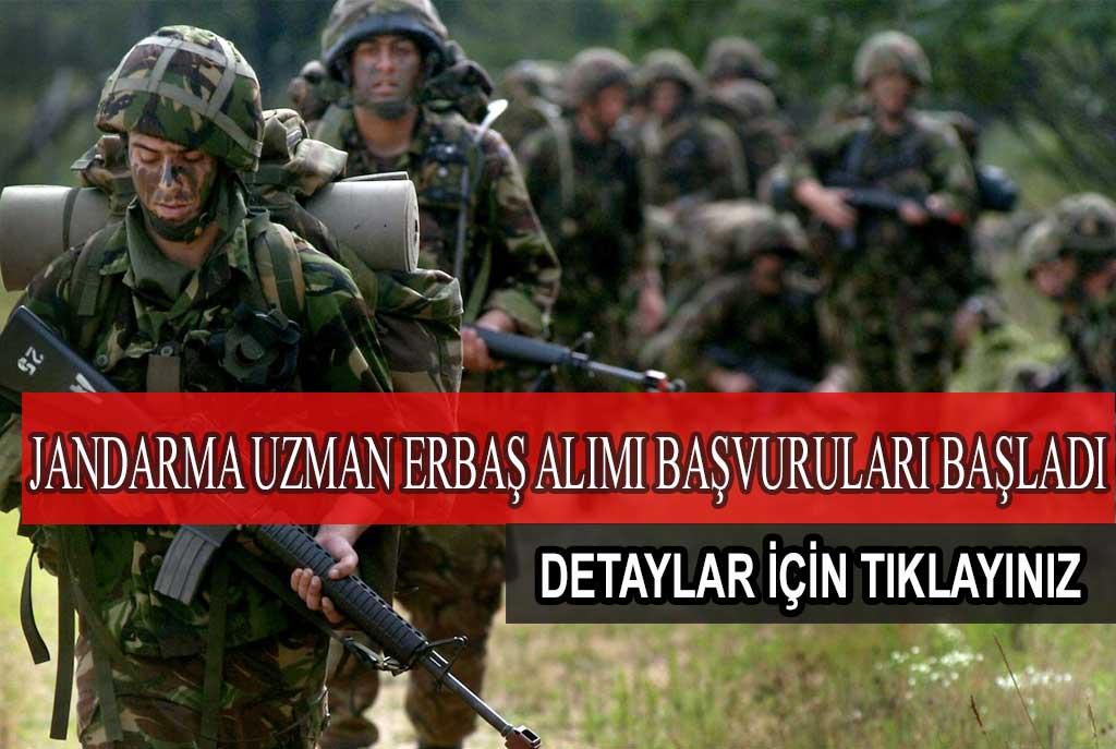 Jandarma Uzman Erbaş Alımı Başvuruları Başladı