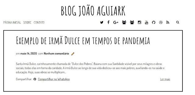 Blog João Aguiark