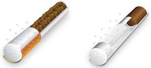 """Filtri per sigarette tradizionali e """"not burn"""" in bioplastica Minerv PHA"""