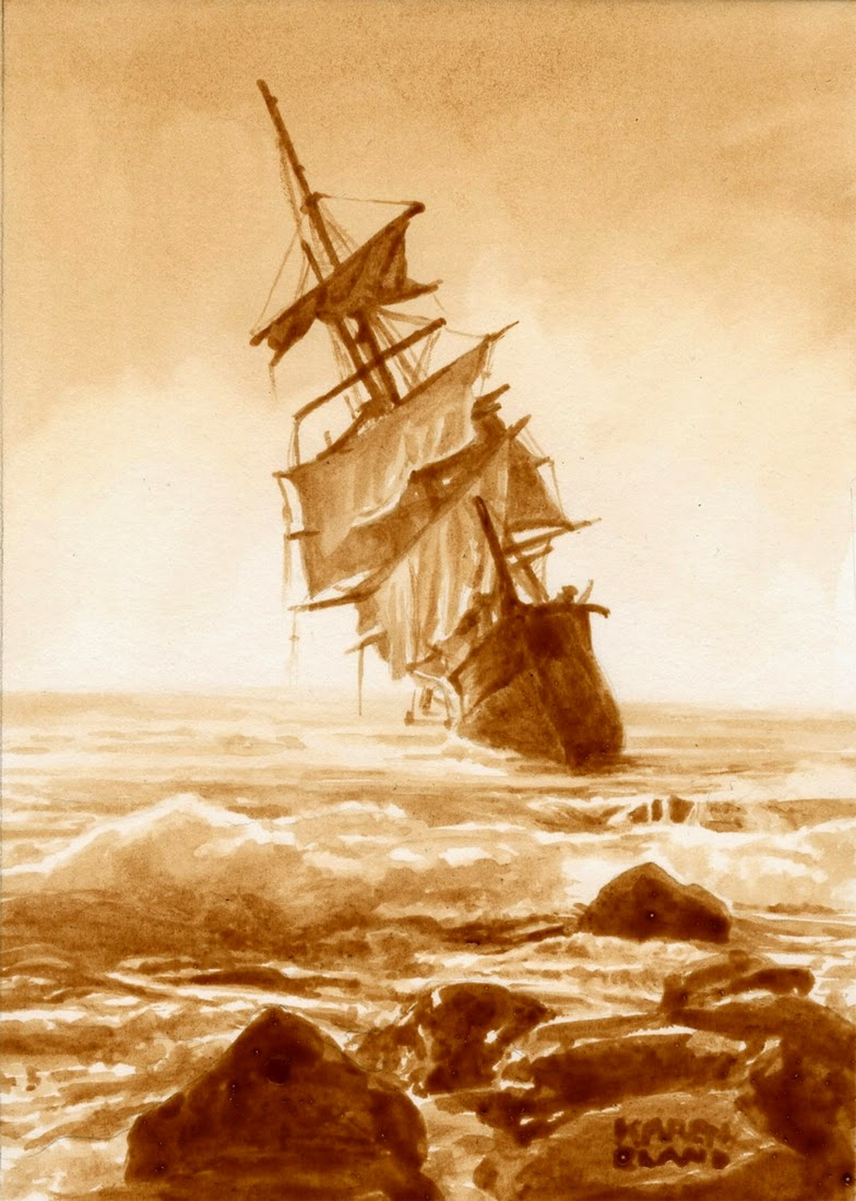 23-A-Rummy-Shipwreck-Karen Eland-Vintage-Looking-Beer-and-Water-Paintings-www-designstack-co