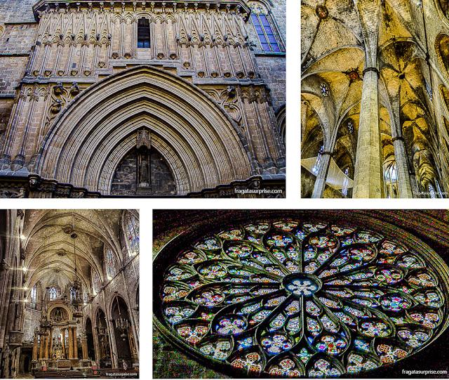 Catedral de Barcelona, Igreja de Santa Maria del Mar, Igreja de Sant Just e Igreja de Santa Maria del Pi