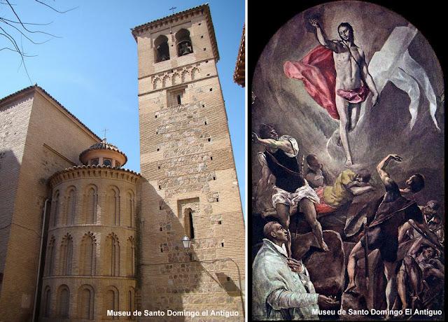 Mosteiro de Santo Domingo El Antiguo, em Toledo, e a tela Ressurreição, de El Greco