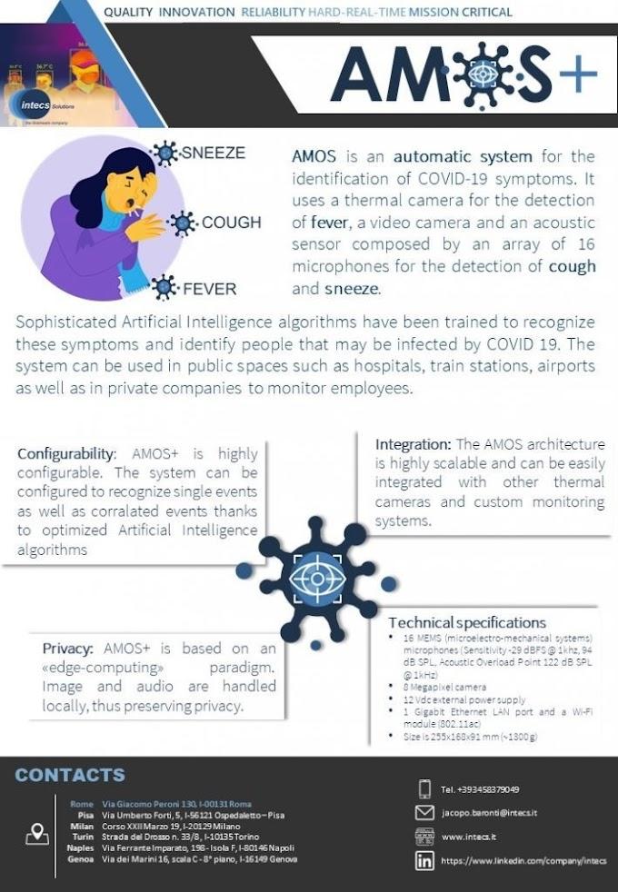 Coronavirus: al Policlinico Tor Vergata la sperimentazione di AMOS COVID-19, il sistema intelligente per scovare i potenziali infetti