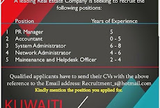 JOB VACANCIES for KUWAITI  NATIONALITY ONLY