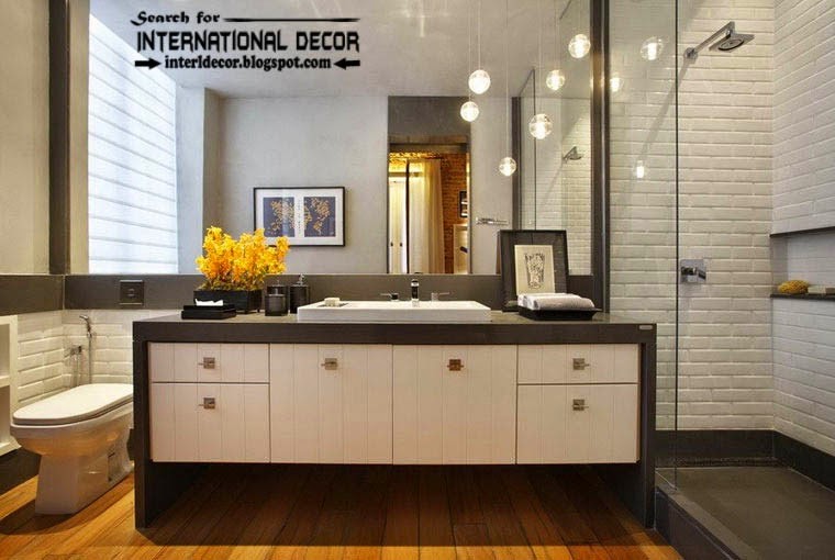 loft interior design style in the home, loft style bathroom interior and furniture