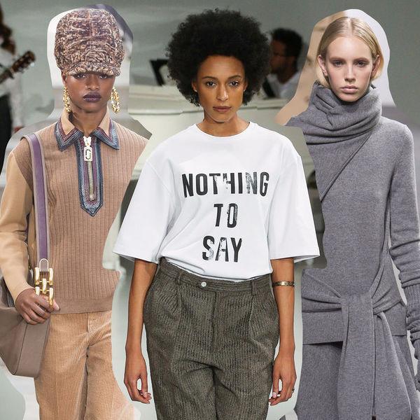0d233bd7e5c На неделе моды в Нью-Йорке все смешалось  политика