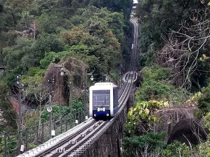 Penang Hill Funicular Train Uphill Trip
