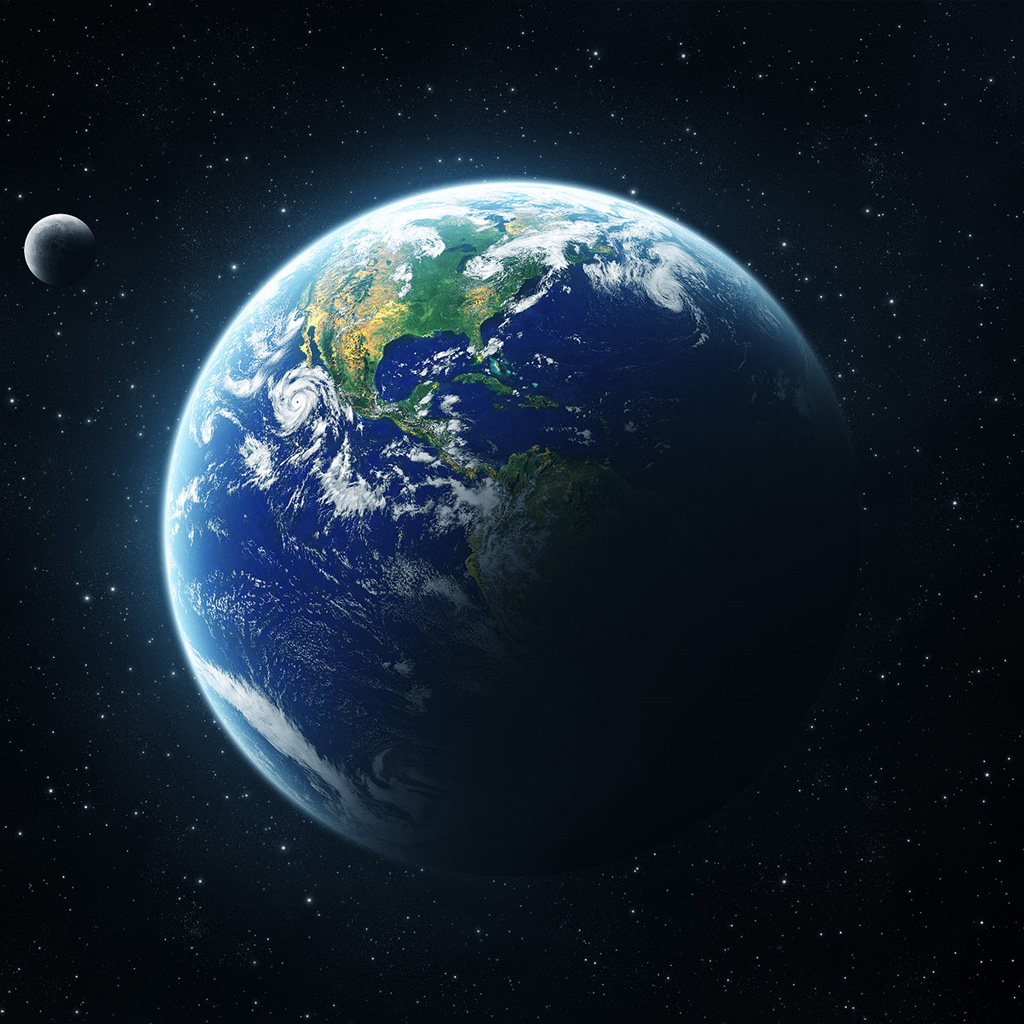 Free wallpaper look 24 - Earth from space wallpaper ...