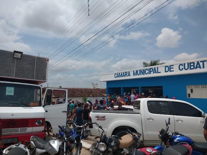 Audiência Publica em Cubati sobre a limitação dos produtores de tomate com o uso das águas