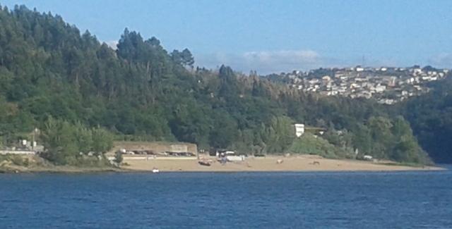 Praia de Zebreiros do outro lado do rio Douro