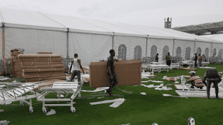 Coronavirus: Lagos converts stadium to makeshift isolation center (photos)