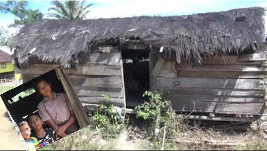 Kondisi rumah tidak layak huni di Samosir.