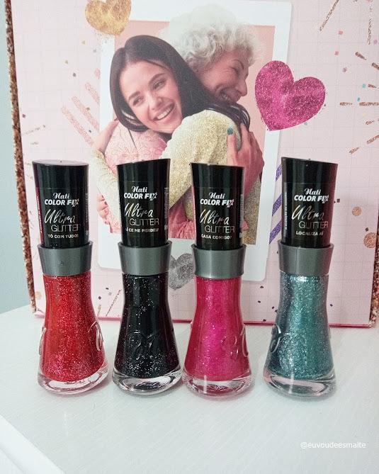 Recebidos: Coleção Ultra Glitter Nati Cosmetica