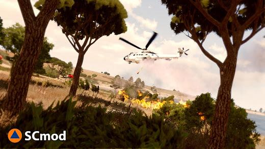 Arma3でヘリから空中消火と救助MOD