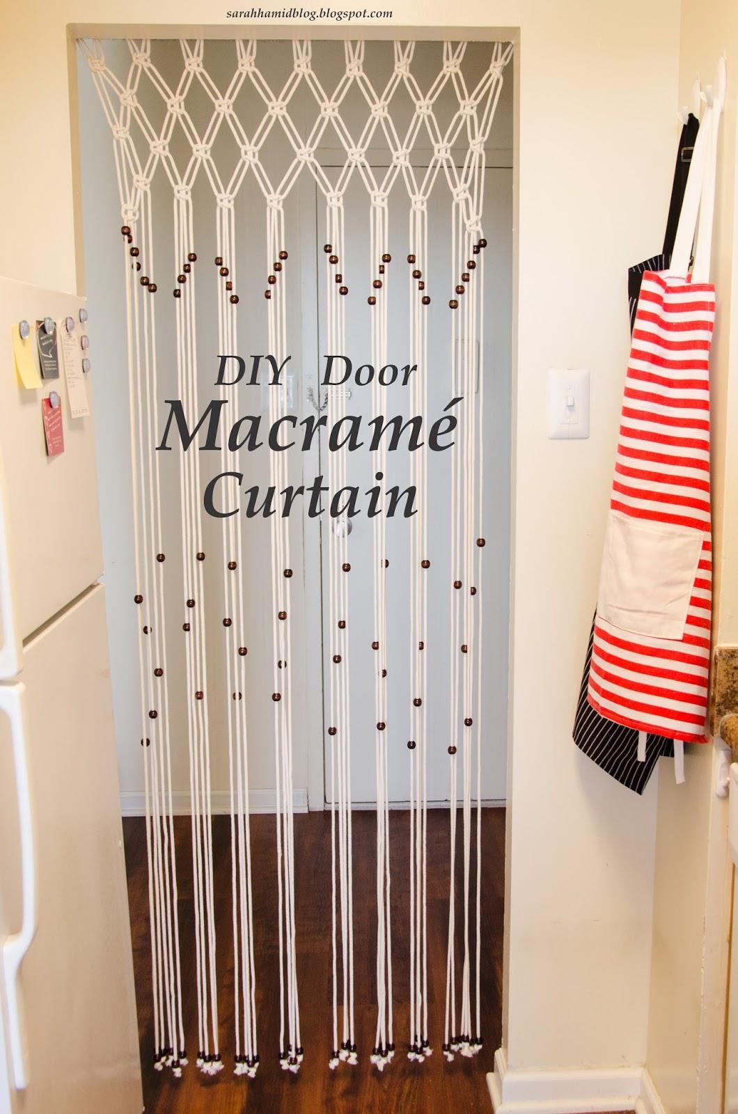 DIY Door Macrame Curtain | Sarah Hamid