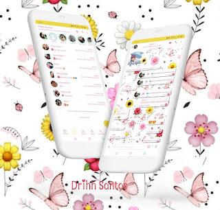 Butterfly Flower Theme For YOWhatsApp & Fouad WhatsApp By Driih Santos