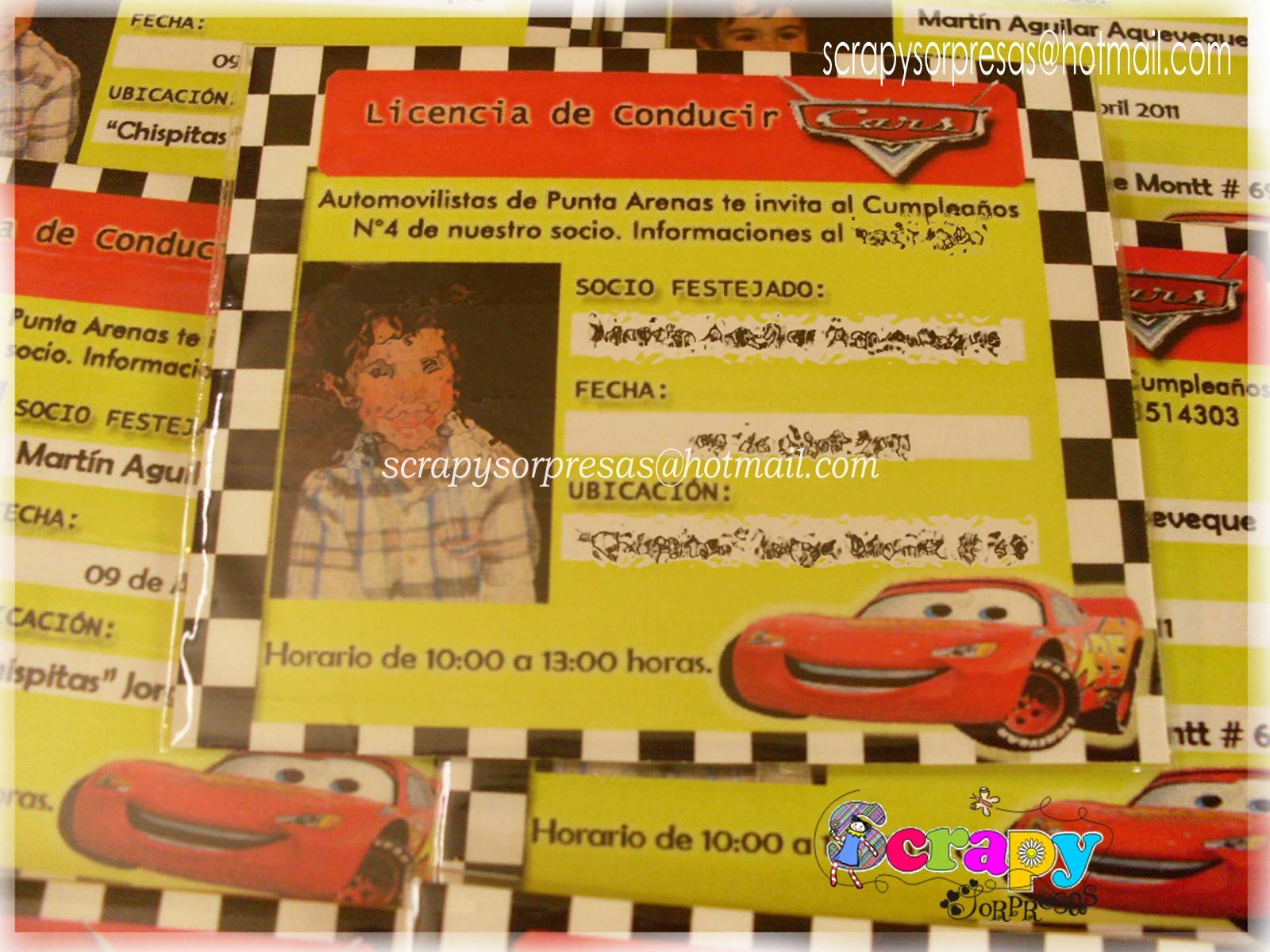 Licencia De Conducir: Invitaciones Tipo Licencia De Conducir
