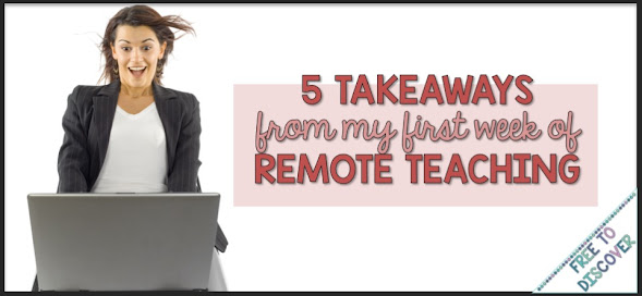 5 takeaways from my 1st week of remote teaching