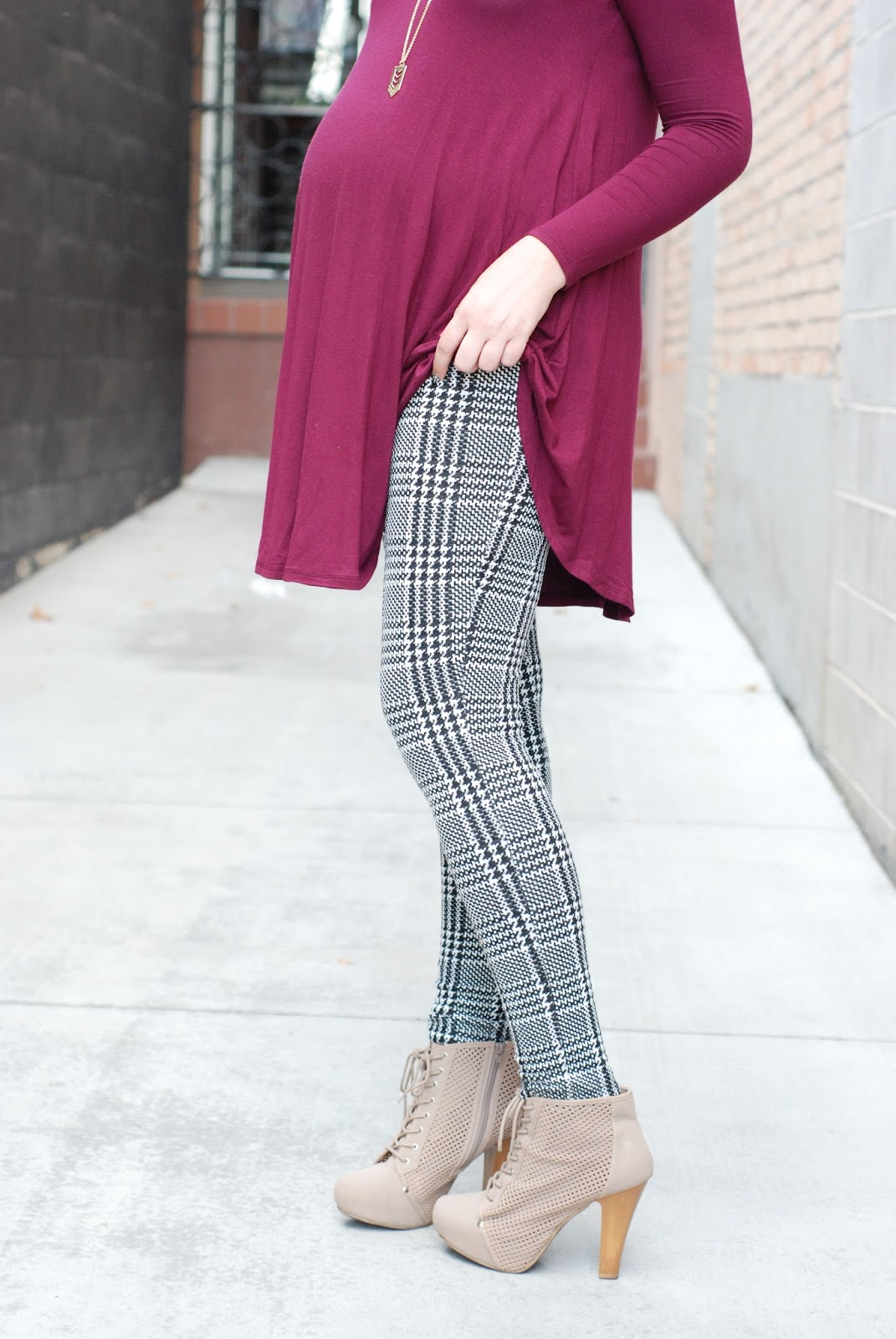 Houndstooth Leggings, Styles For Less, Utah Fashion Blogger