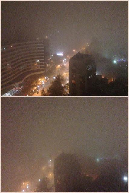 Vista da varanda - diferença do fog em 30 minutos.