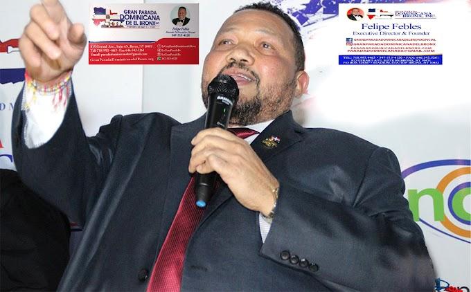 Febles denuncia campaña de descrédito contra Desfile Dominicano en El Bronx y niega usar bandera sin escudo
