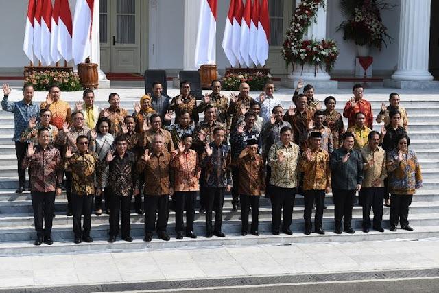 Inilah 32 Menteri Kabinet Indonesia Maju, Prabowo Menteri Pertahanan